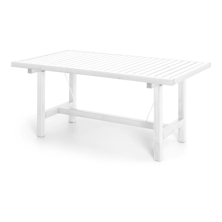 Vit aluminium bord 80x142cm
