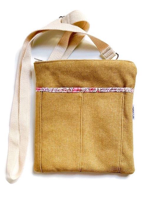 lavender rosea camel crossbody bag