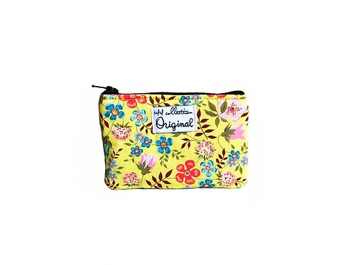 wildflowers yellow coin purse wallet