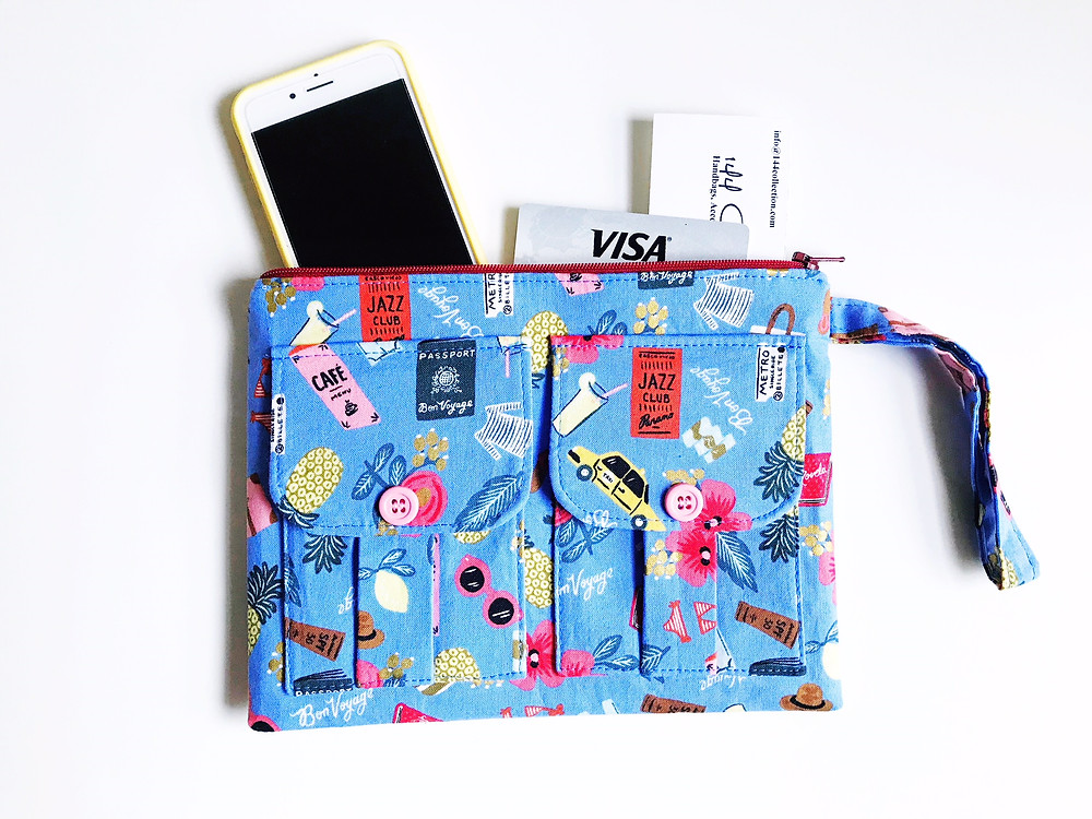 iPhone Wallets for Women - Blue