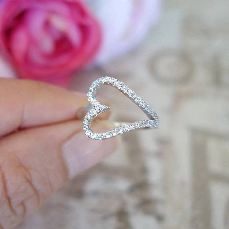 Heart Print Ring