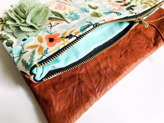 Summer Clutch Bags - Inside View Floral Print Clutch