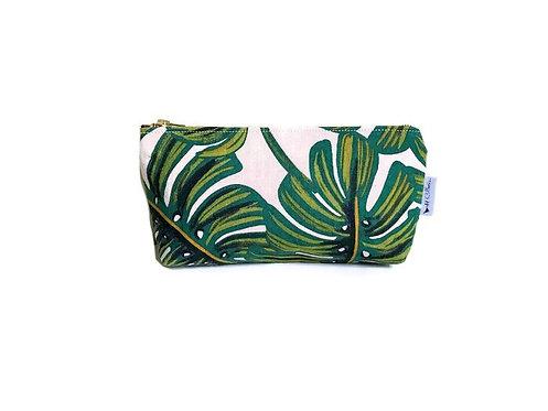Handmade Cosmetic Bag - Palm Leaf Print