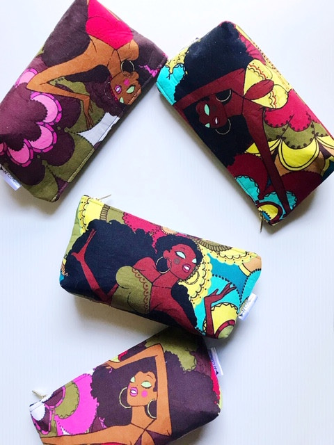 Cute Small Makeup Bags - Soul Sisters Print