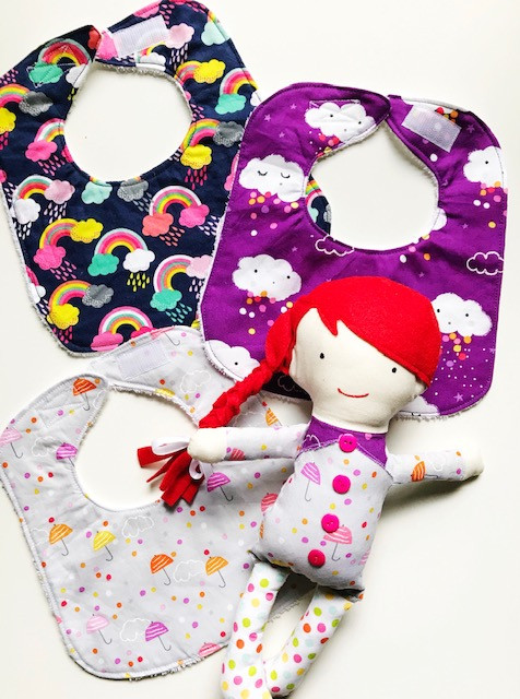 Feeding Baby Bibs  - Set of 3