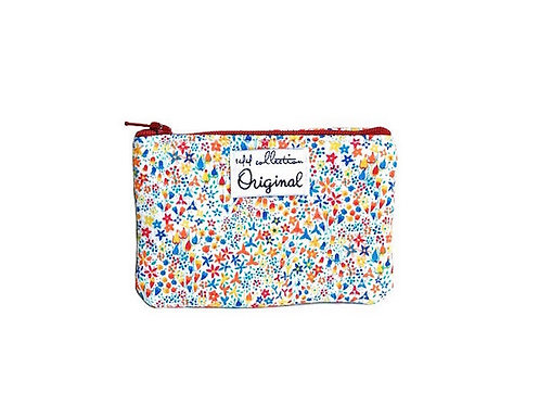 small change purse - flower print