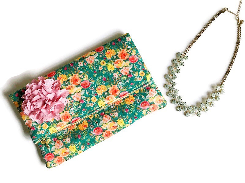 mother's day gift ideas - floral clutch