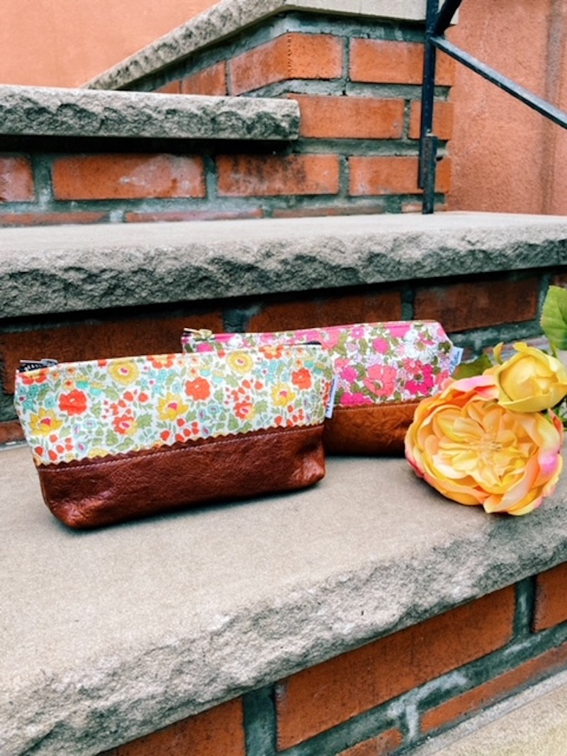 handmade leather bags - floral prints