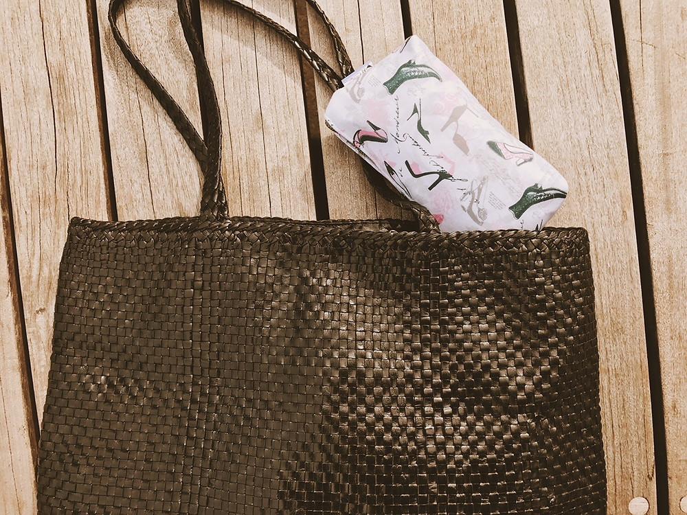 Handmade Bag - Vintage Shoes Makeup Bag