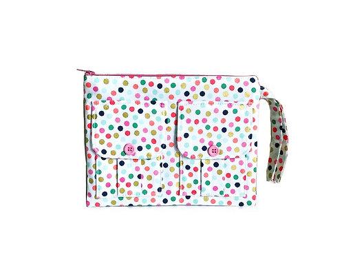 Polka Dot Wristlet Bag