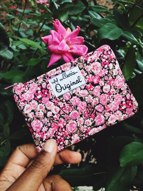 Handmade Coin Purse - Pink Peony Floral Print
