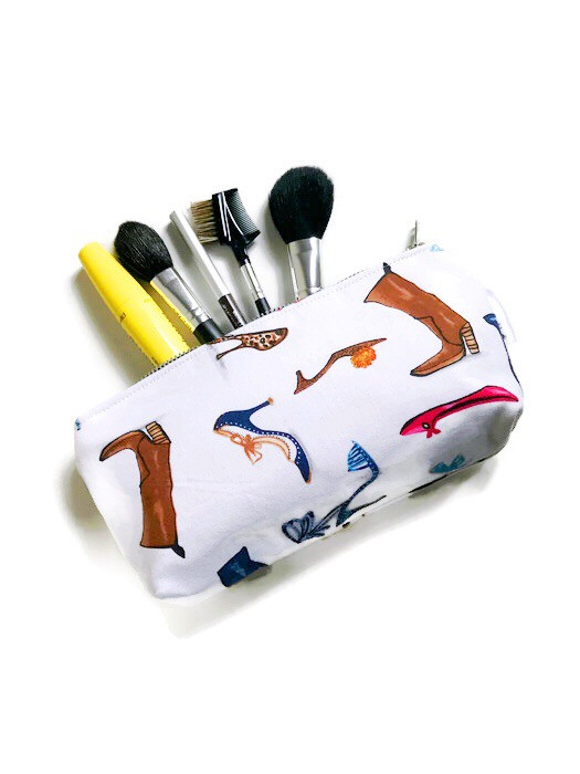 Cosmetic Bags for Purse - Womens Shoe Print