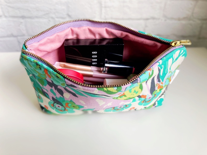 floral-cosmetic-bag-green