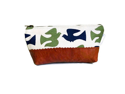 Handmade Bag - On the Fly Leather Cosmetic Bag