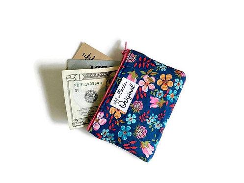 zipper change purse - periwinkle blue