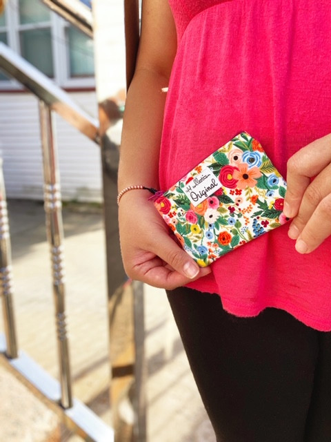 Change Purse - Rifle Paper Co fabric Small Floral Print