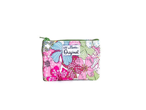 Mauvey Pink Floral Coin Purse