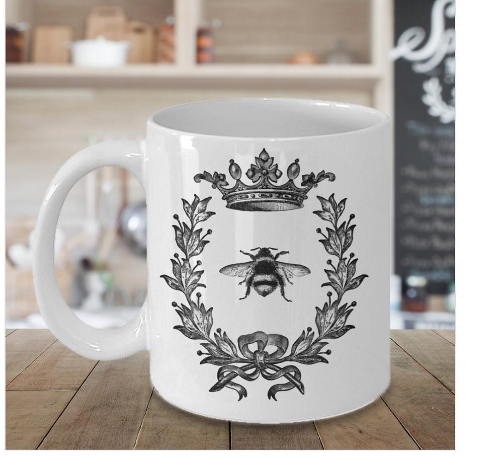Bee Print Coffee Mug