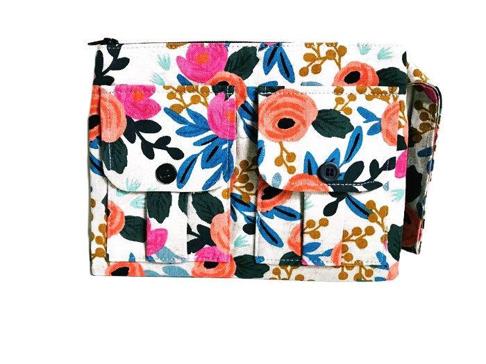 Wristlet Bag - Floral Print Canvas Wristlet