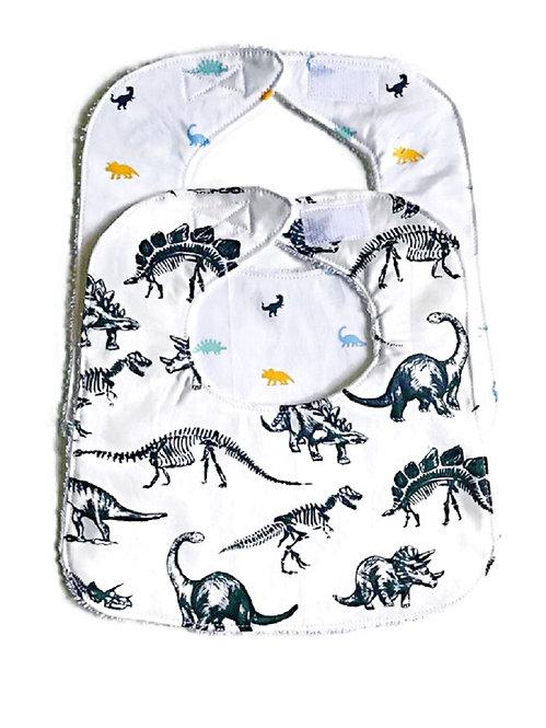 Baby Boy Bibs - Dinosaur Baby Bibs - Boys Bib