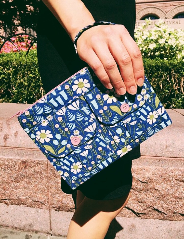 Fall Accessories - Floral Wristlet Blue