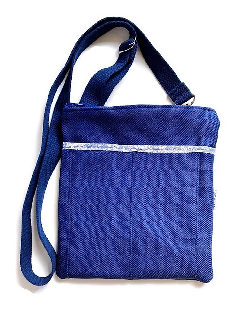 orchid blue crossbody bag