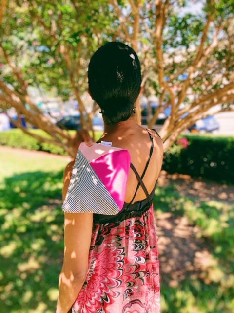 Canvas Travel Pouch - Bubblegum Pink and Fuchsia Fedora