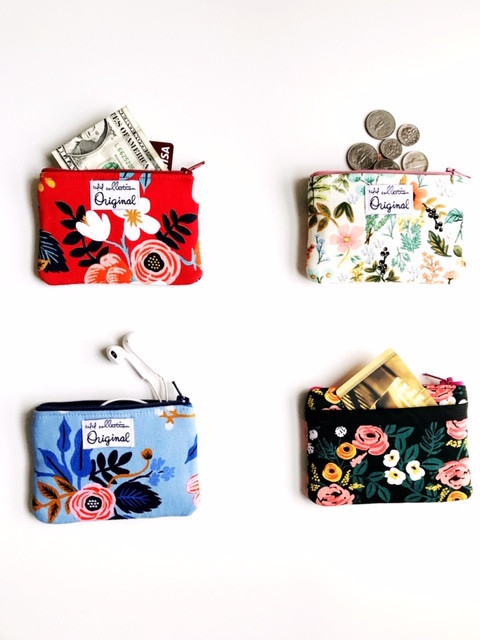 Zipper Change Purses - floral prints