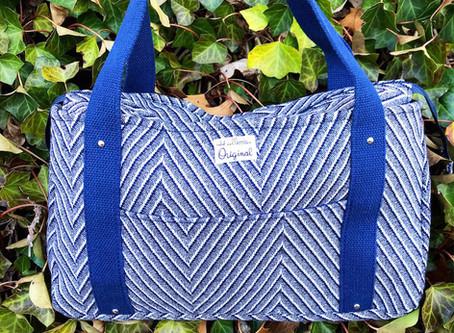 A Classic Blue Handmade Tote Bag