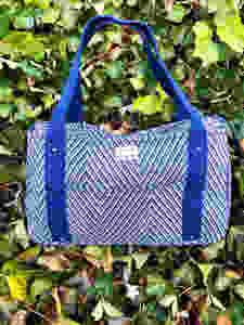 Handmade Tote Bag - Striped Blue