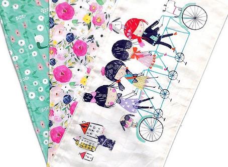 Burp Cloths for Baby Girls