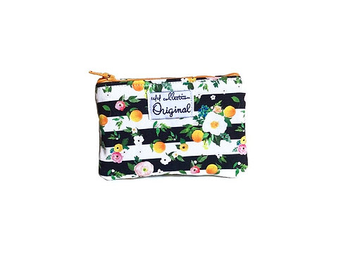 orange blossom coin purse wallet