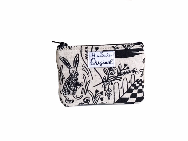 Small Coin Purse - rabbit print