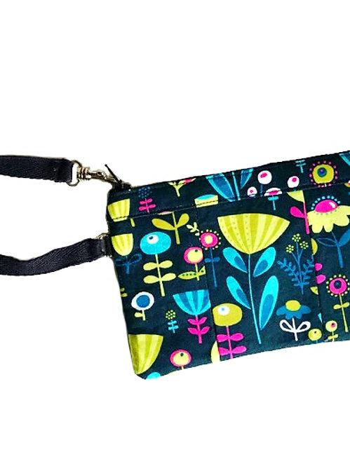 Navy Blue Small Wristlet - Wristlet Wallet - Womens Wallet - Handmade Handbags