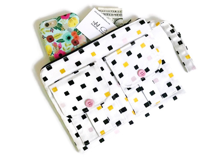 iPhone Wallets for Women - Polka Dots Print