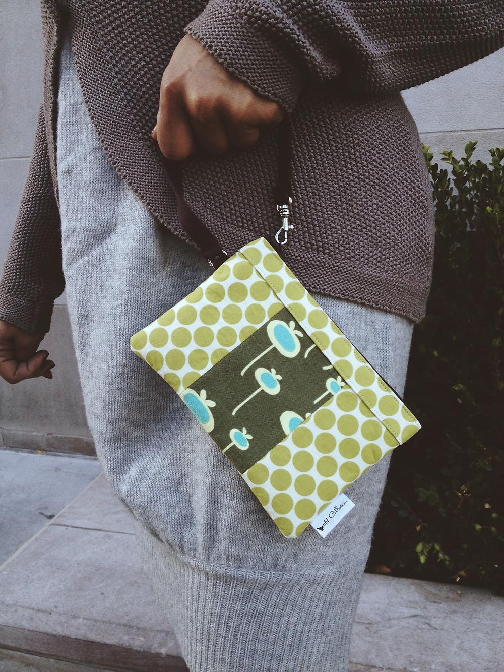 Handmade Wristlet - Green