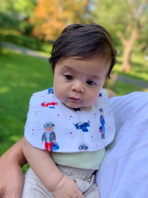 Best Baby Bibs for Drooling - Airplanes and Pilots Fabric
