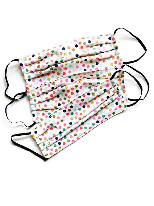 cotton face mask-polka dot