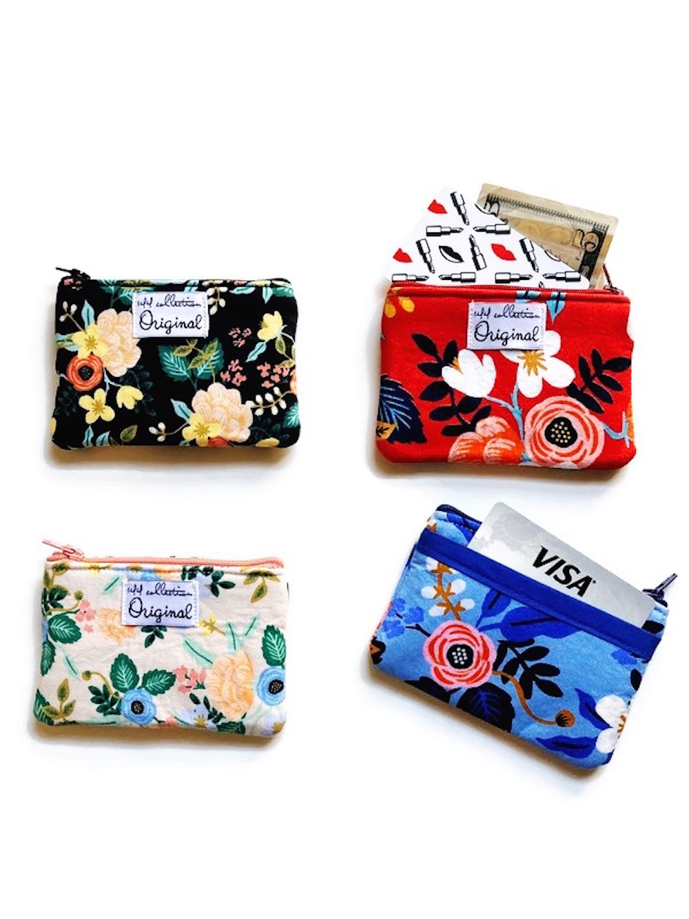 change purses - floral prints rifle paper co fabric