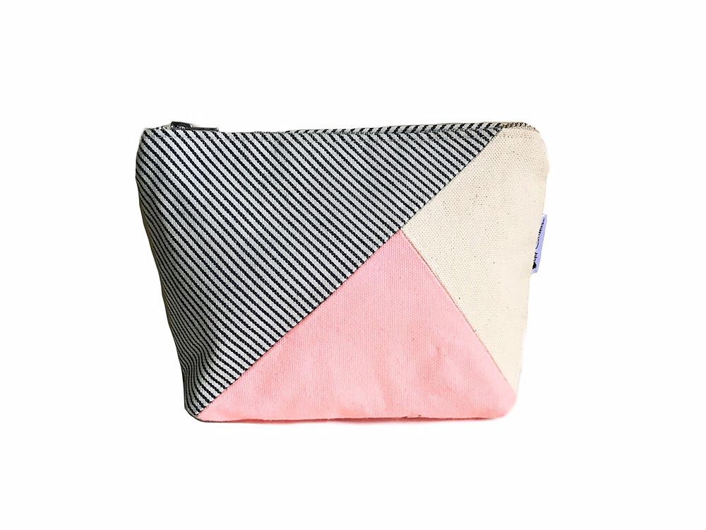 Makeup Bags Made in the USA- Pink Canvas Makeup Bag