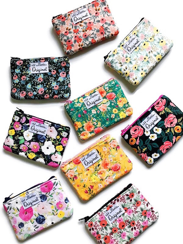 mini coin purses - floral prints