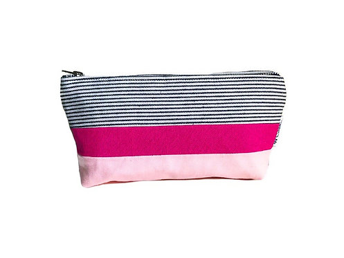 Pink Small Canvas Zipper Pouch
