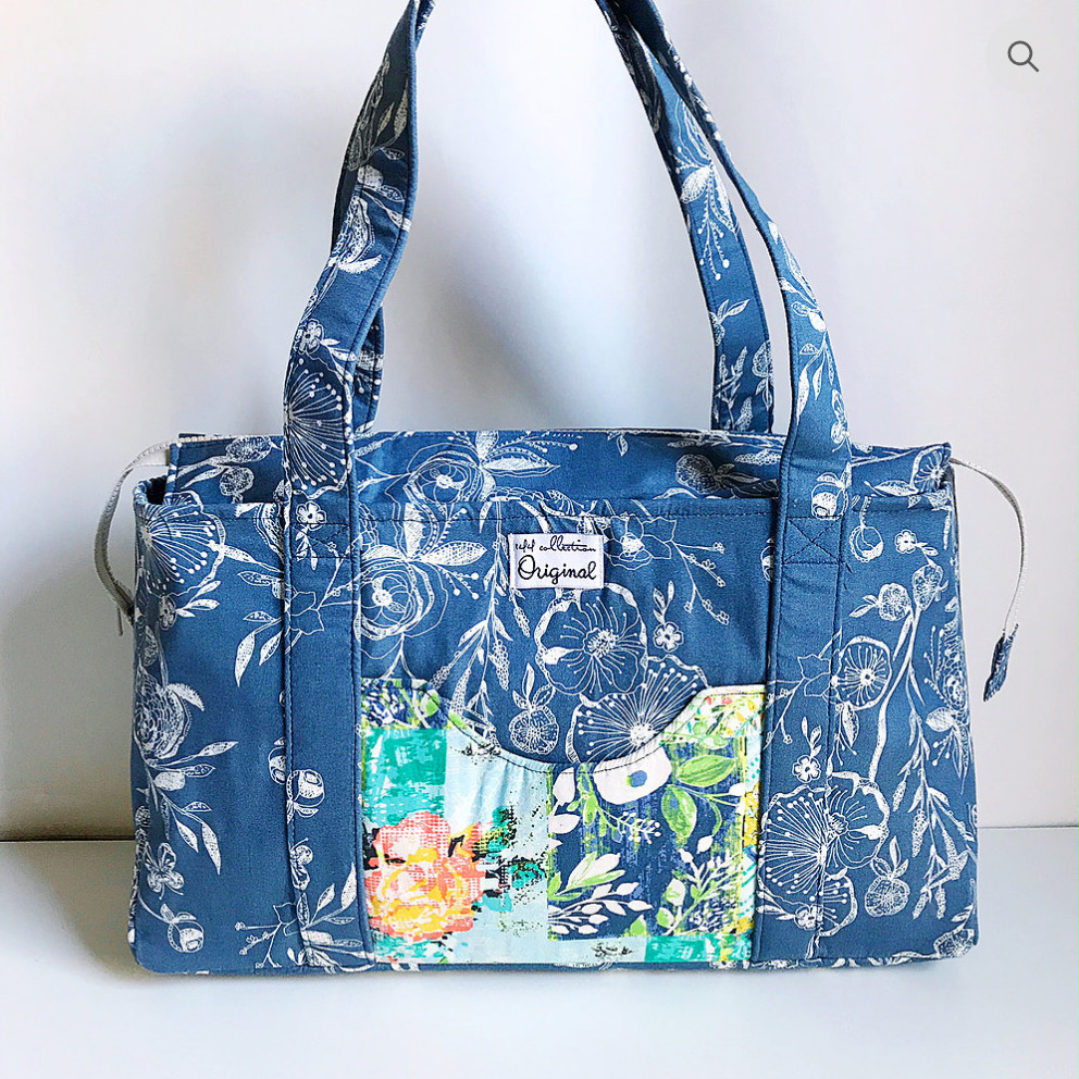 Handmade Shoulder Bag in Blue