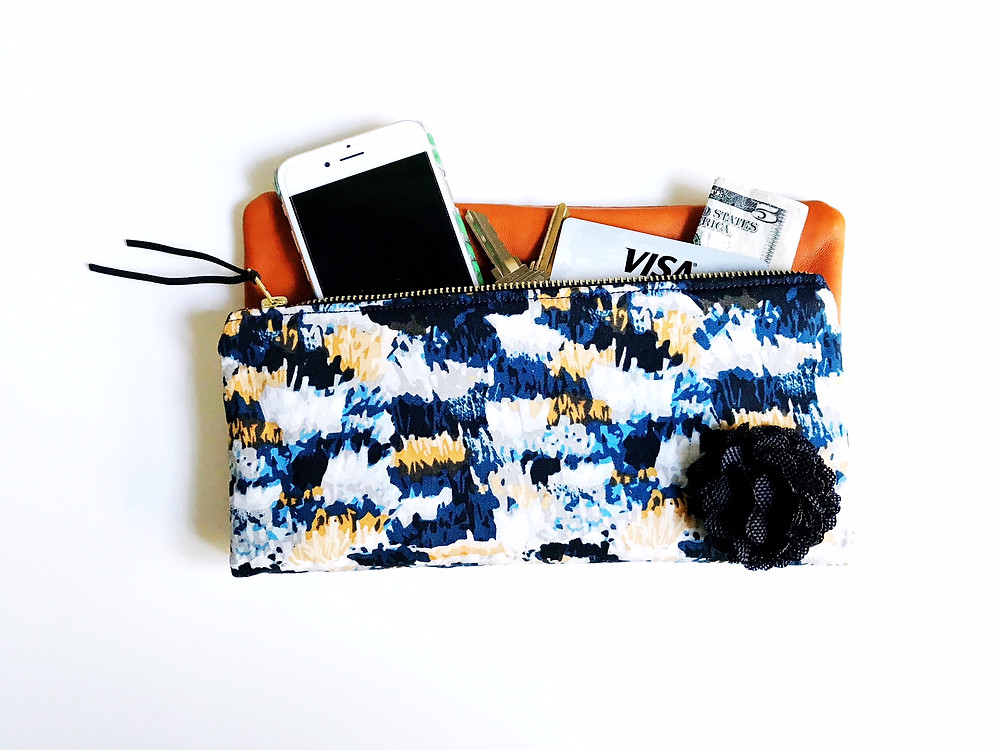 Handmade Clutch - Blue