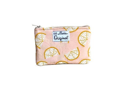 Pink Lemons Zipper Change Purse