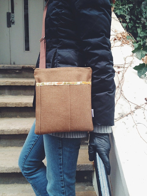 Handmade Handbags - Women's Brown Crossbody Bag - Messenger Bag