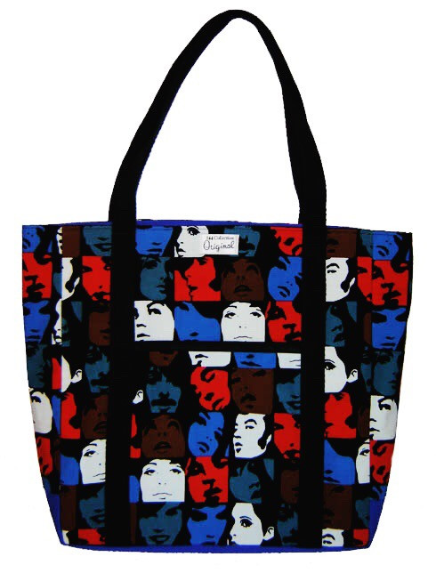 Handmade Bags, Baby Bibs and Accessories - Meet 144 Collection - mod faces tracy tote bag