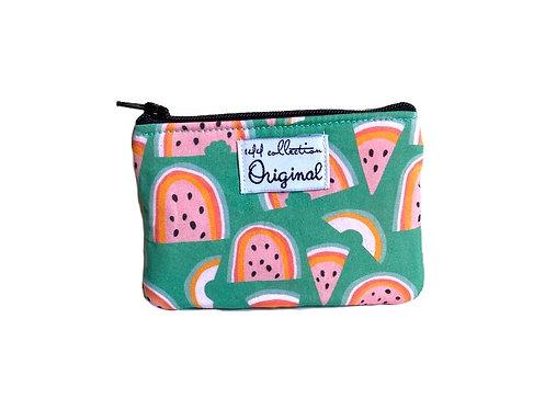 watermelon print fabric coin purse