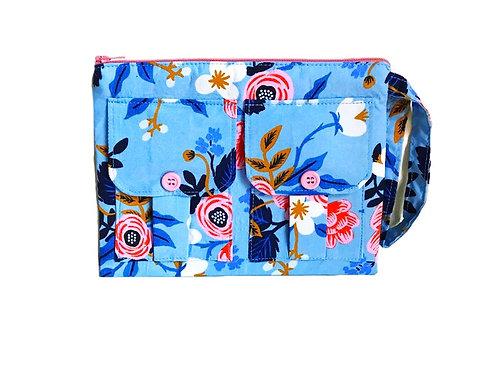 Blue Wristlet Bag