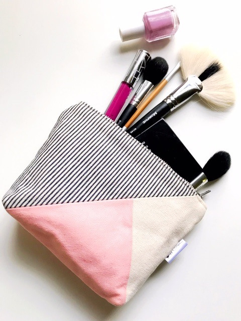 One of a Kind gift - pink makeup bag
